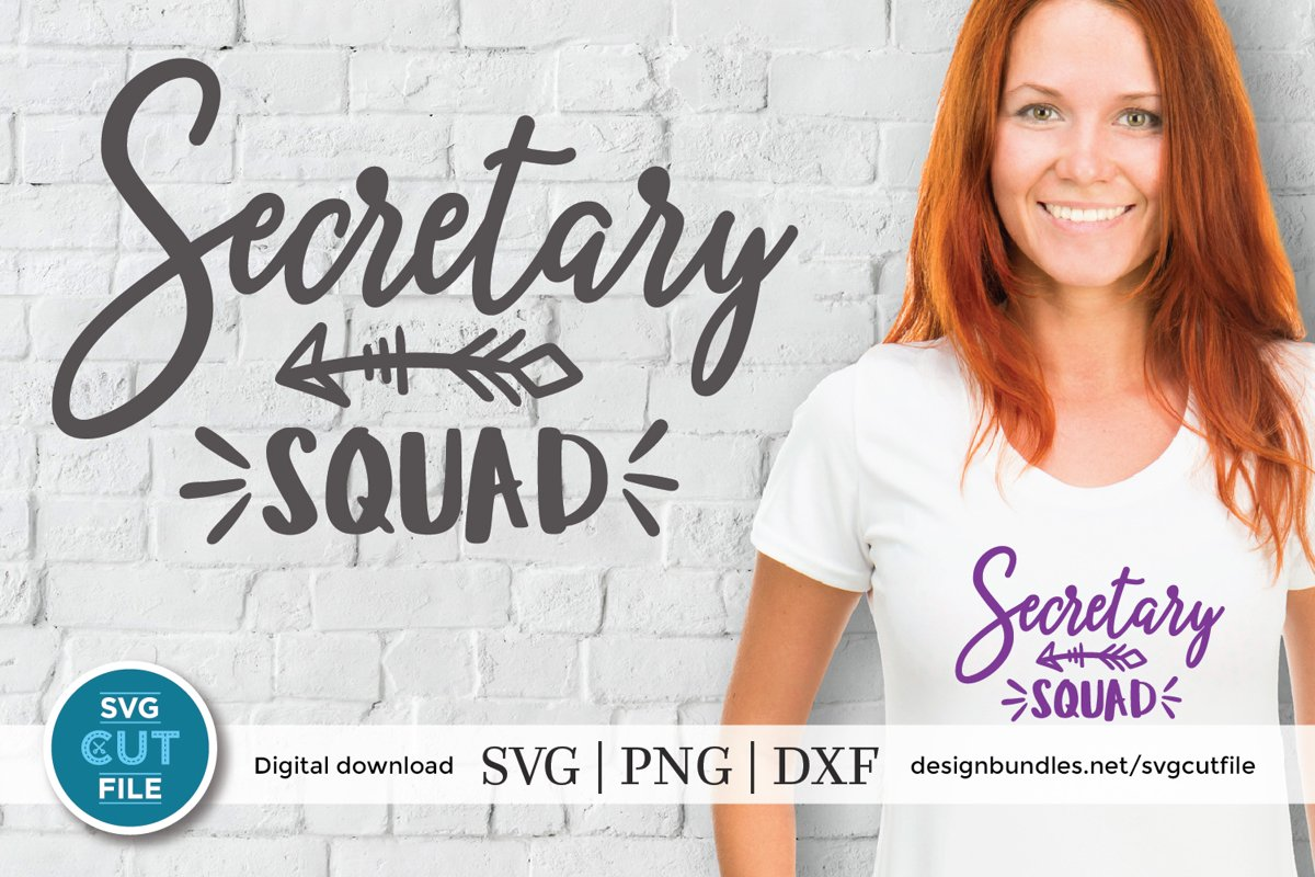 Secretary squad svg - a secretary svg file for crafters example image 1