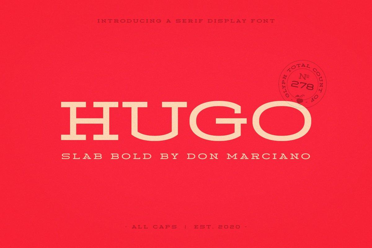 Hugo Slab Serif Bold example image 1