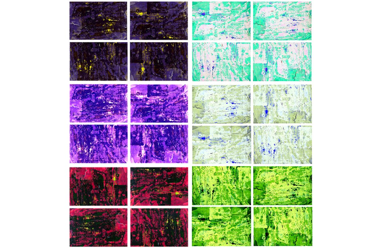 Set of 24 images. Abstract art background. Acrylic painting example image 1