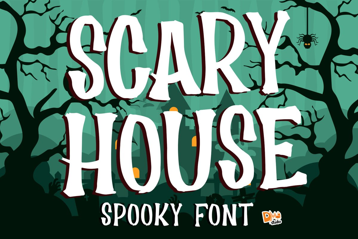 Scary House - Spooky Font example image 1