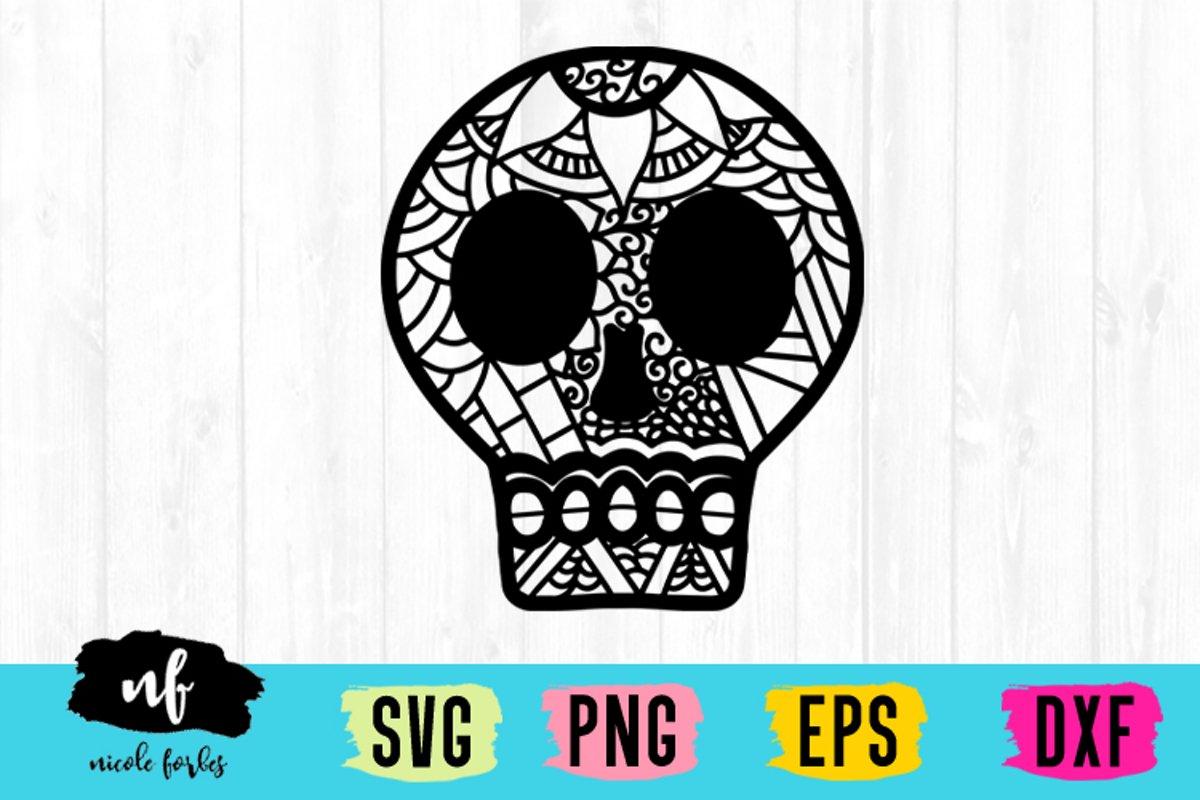 Skull Zentagle SVG example image 1