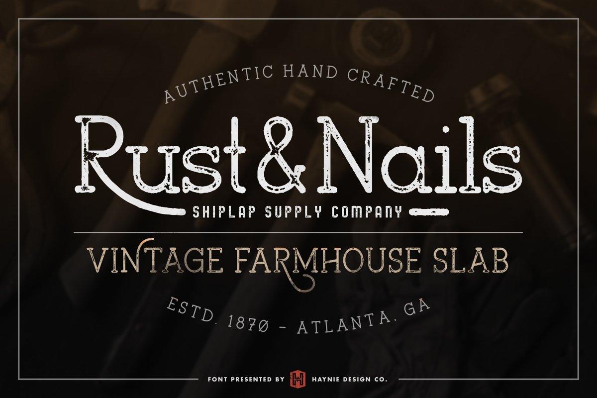 Rust & Nails Vintage Farmhouse Slab example image 1