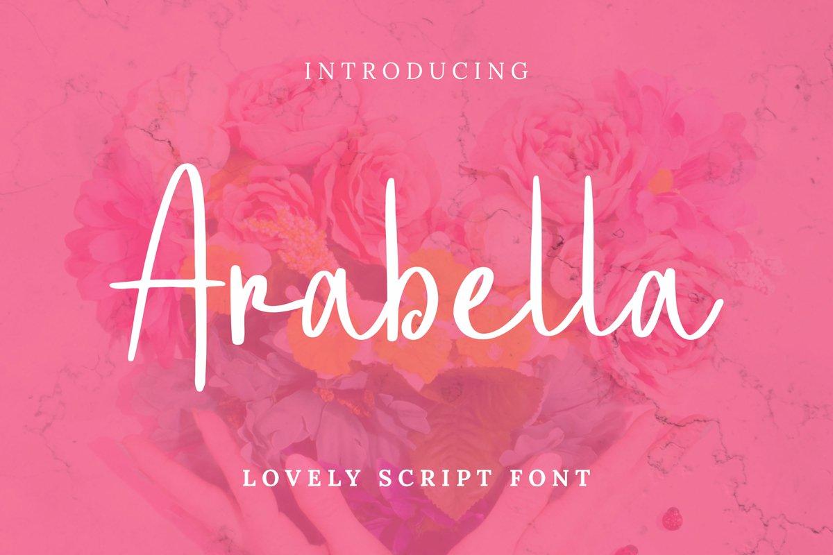 Arabella Font example image 1
