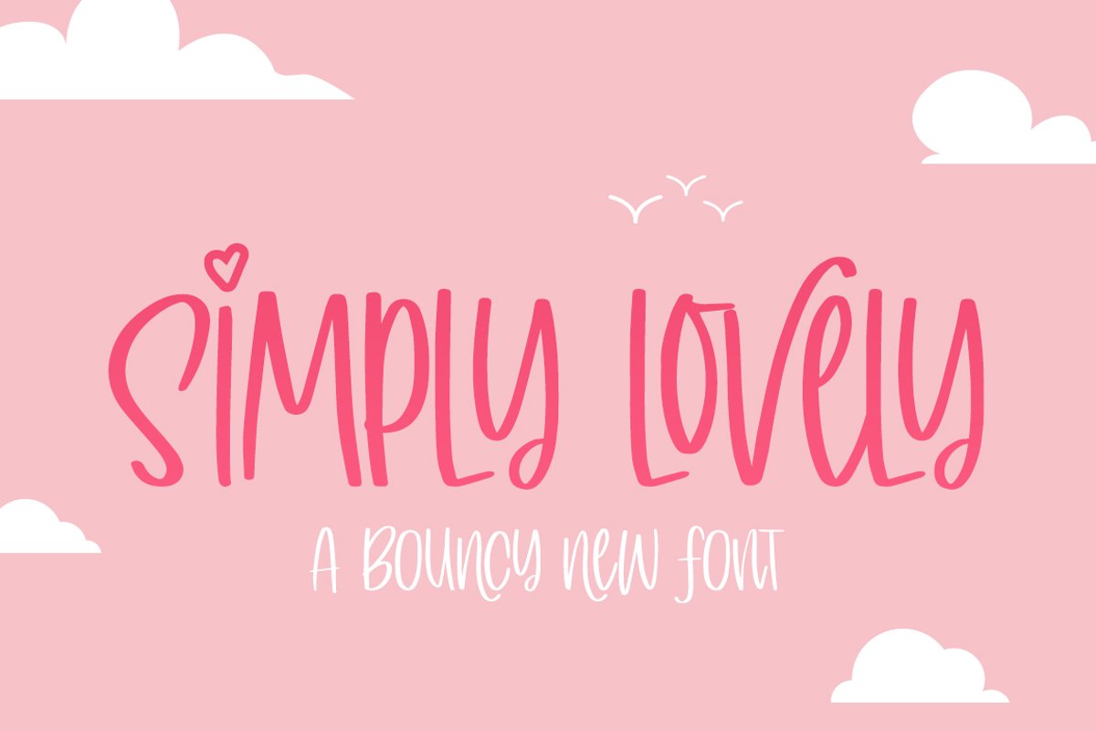 Simply Lovely Font example image 1
