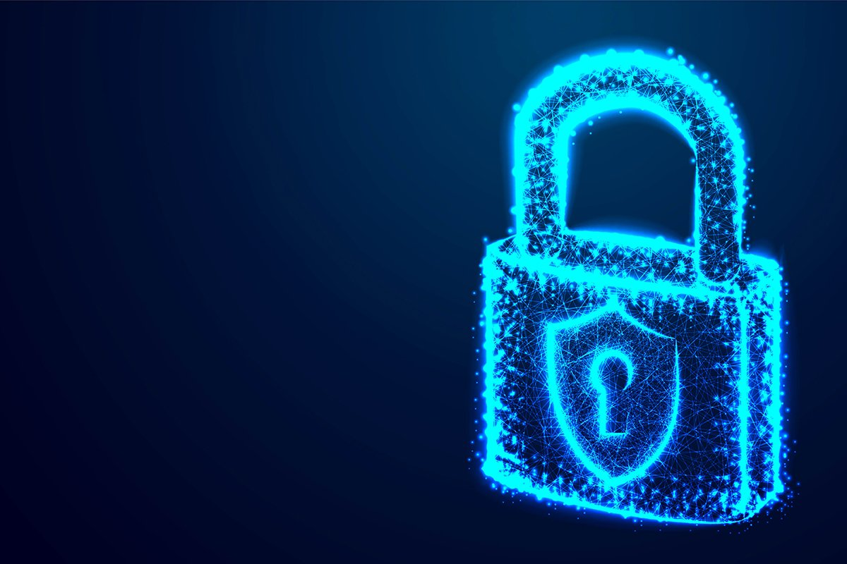 lock, Security, Padlock, Keyhole, Cyber, form lines and tria example image 1
