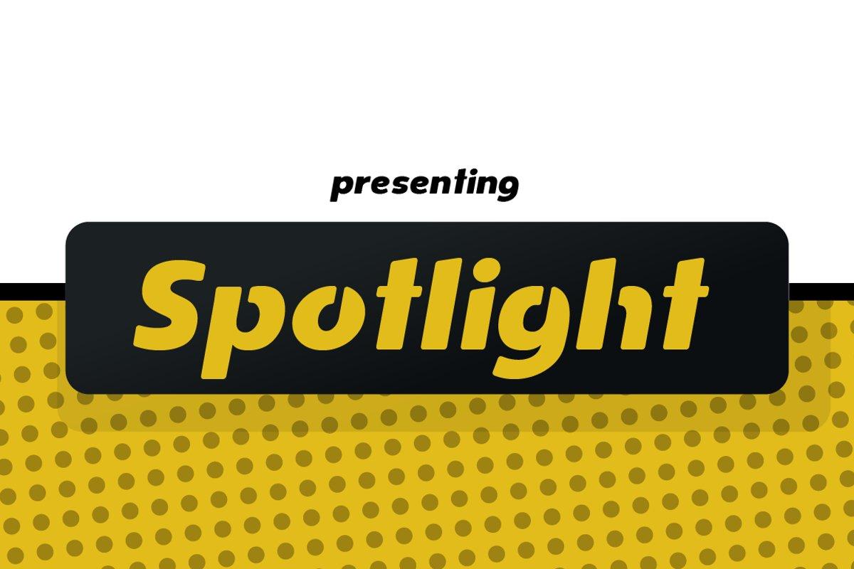 Spotlight - Sans Serif Regular with optional Stencils example image 1
