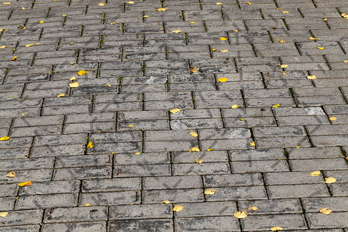 concrete tiles on the road example image 1