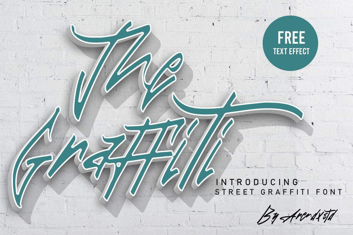 The Graffiti Font | Free Text Effect example image 1