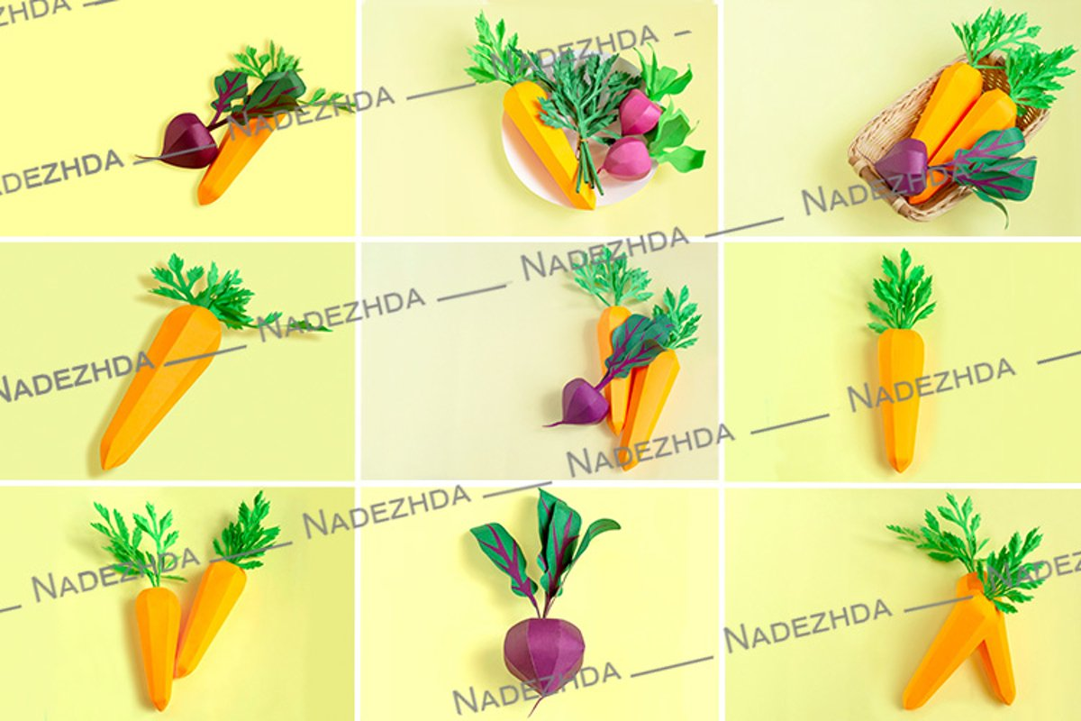 Paper carrots and beets example image 1
