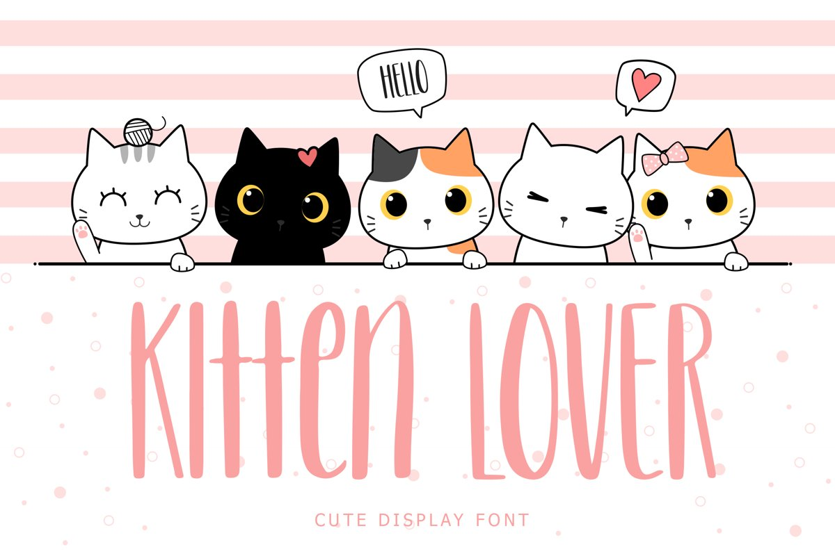 Kitten Lover Cute Display Font example image 1