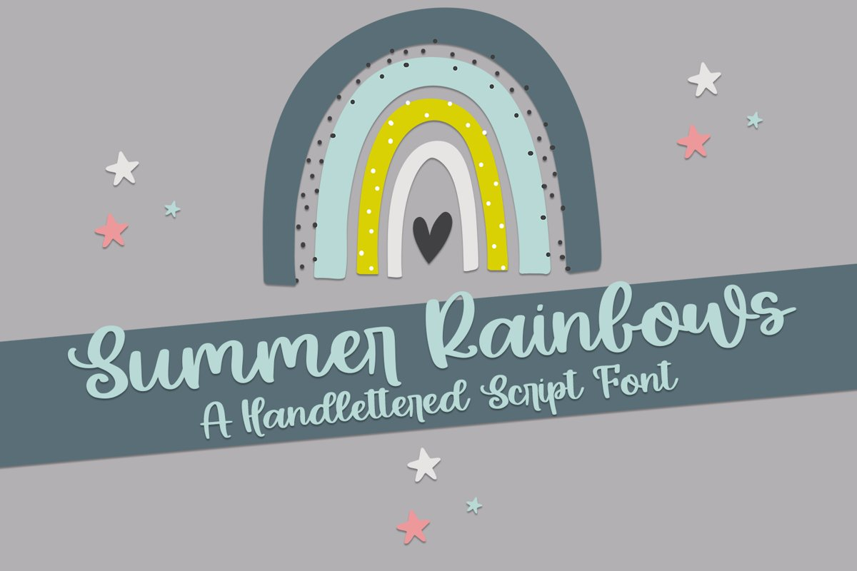 Summer Rainbows - A Hand-Lettered Script Font example image 1