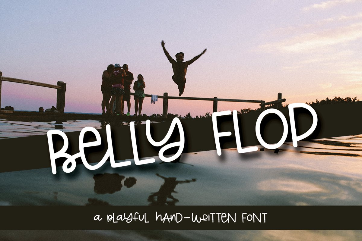 Belly Flop - A Playful Hand-Written Font example image 1