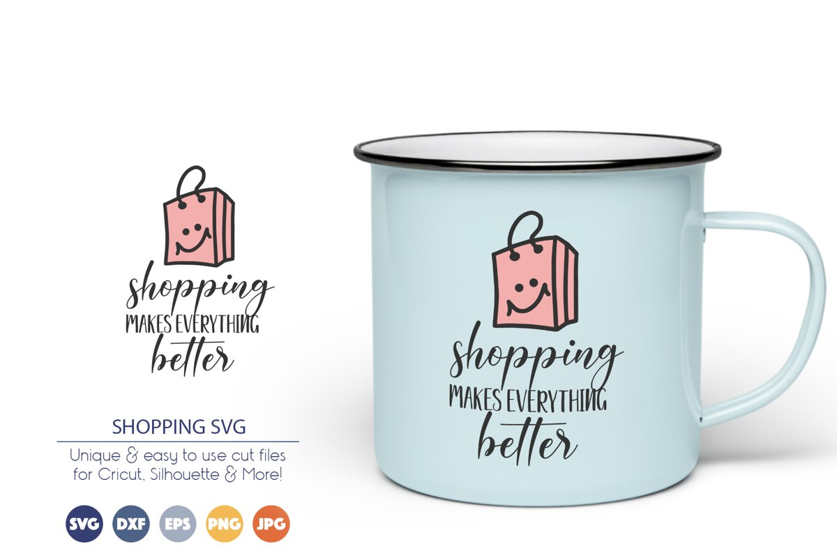 Shopping SVG Cut Files example image 1