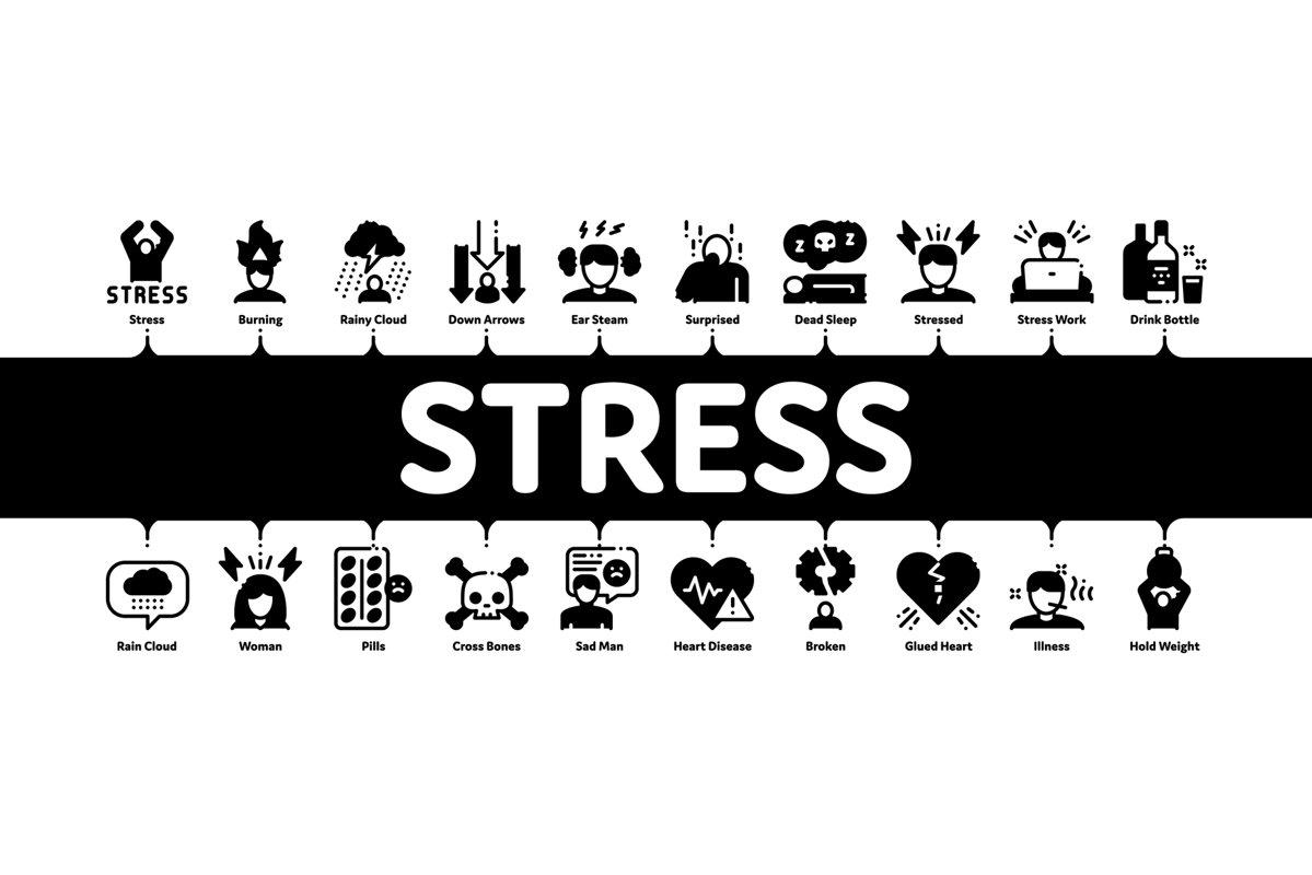 Stress And Depression Minimal Infographic Banner Vector 648572 Illustrations Design Bundles