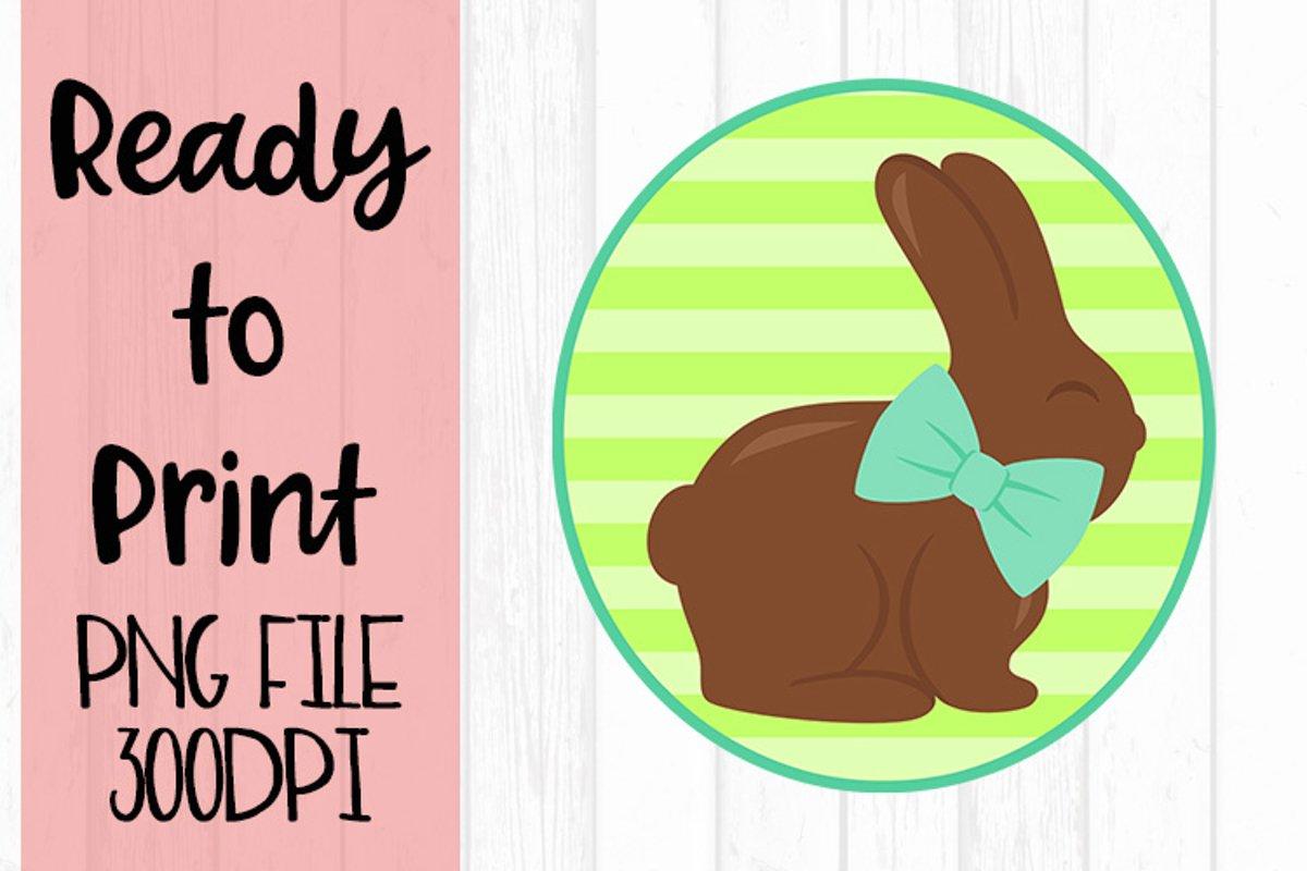 Boys Bunny Circle Ready to Print example image 1