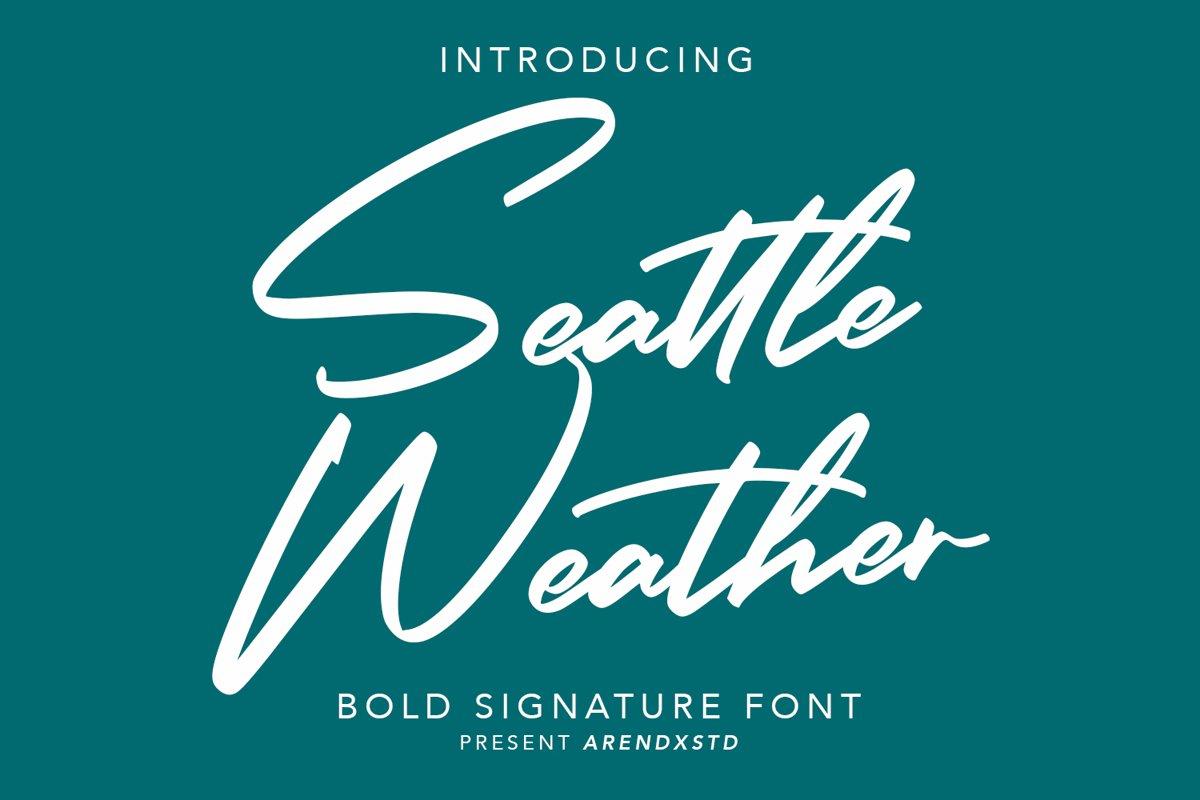 Seattle Weather   Bold Signature example image 1