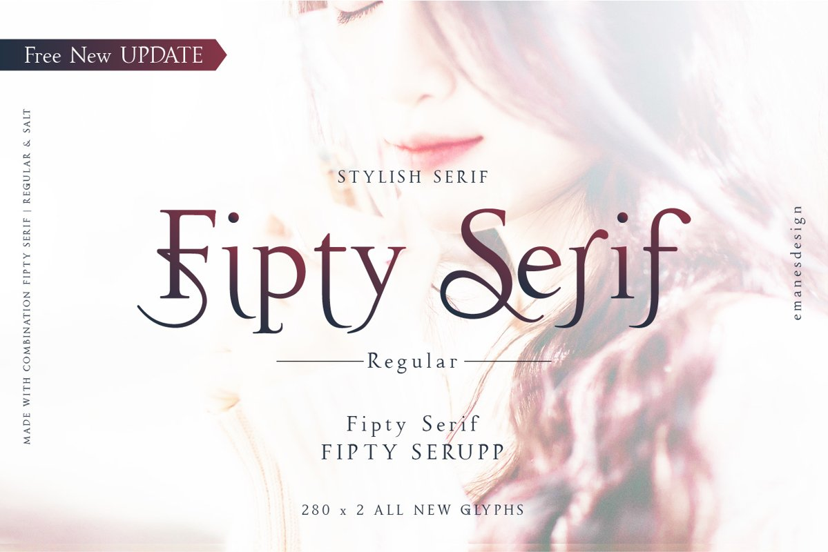 Fipty Serif Font Family example image 1