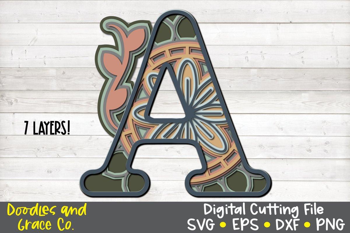 256+ Layered Mandala Alphabet Svg – SVG Bundles