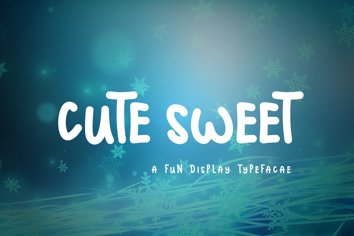 Cute Sweet Display Font example image 1