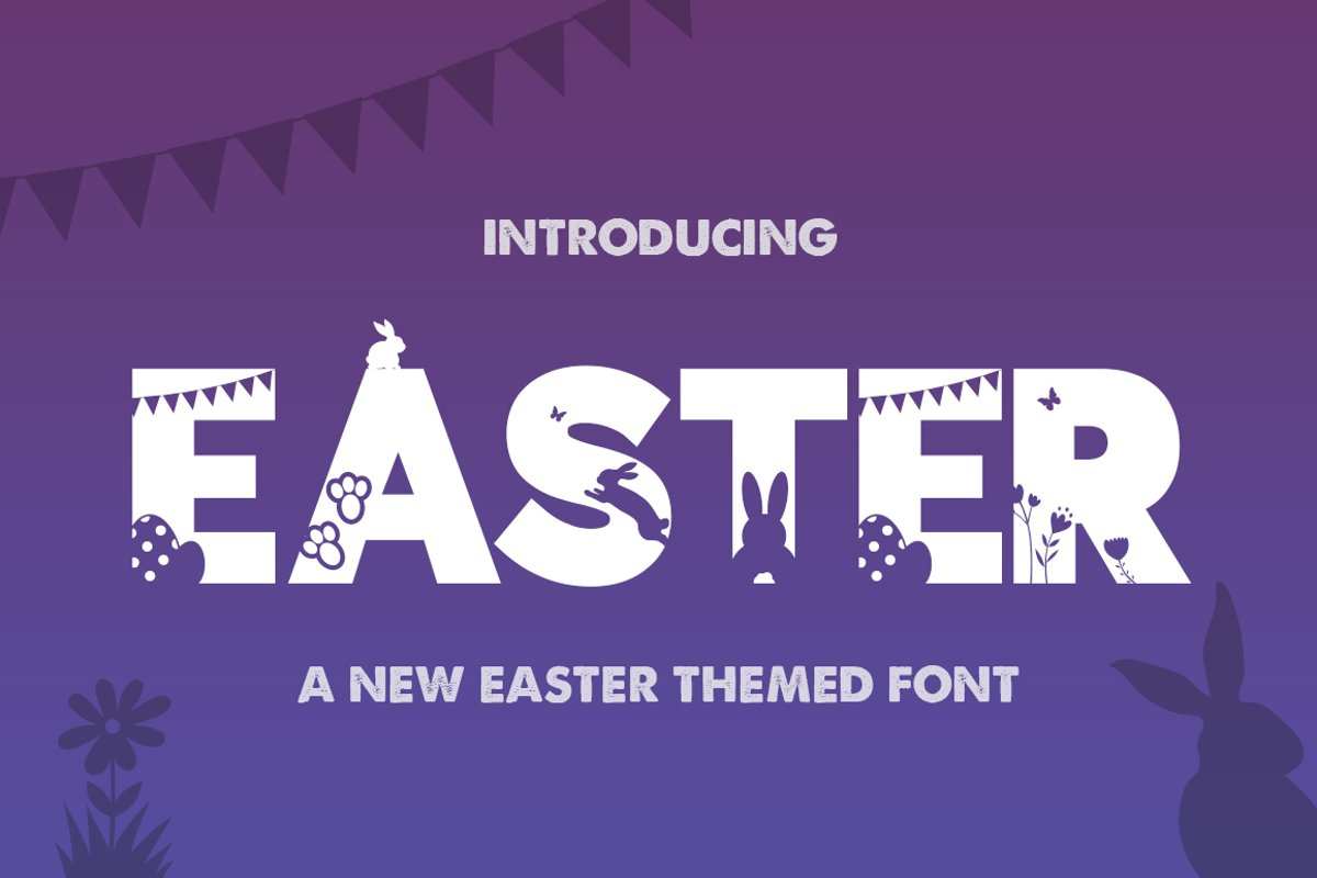 Easter Silhouette Font example image 1