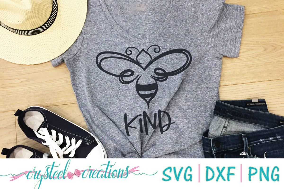 BEE Kind SVG, DXF, PNG example image 1