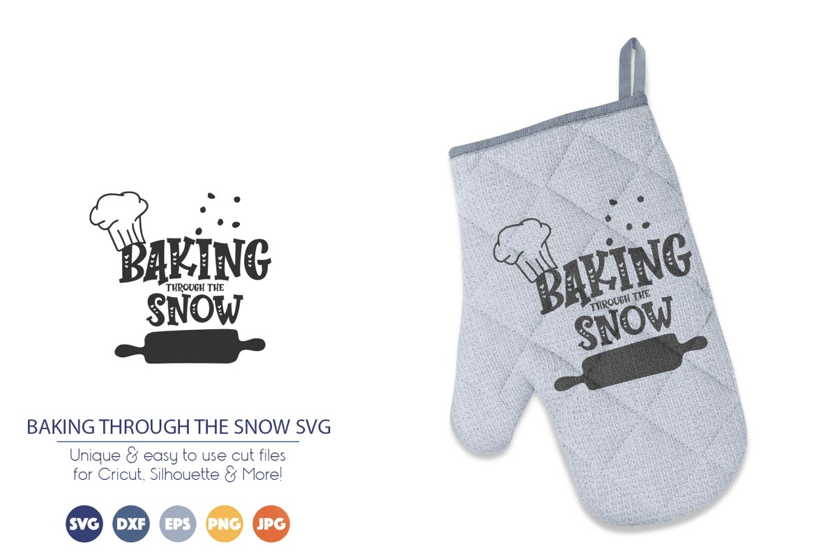 Baking Through the Snow SVG | Funny Christmas SVG example image 1
