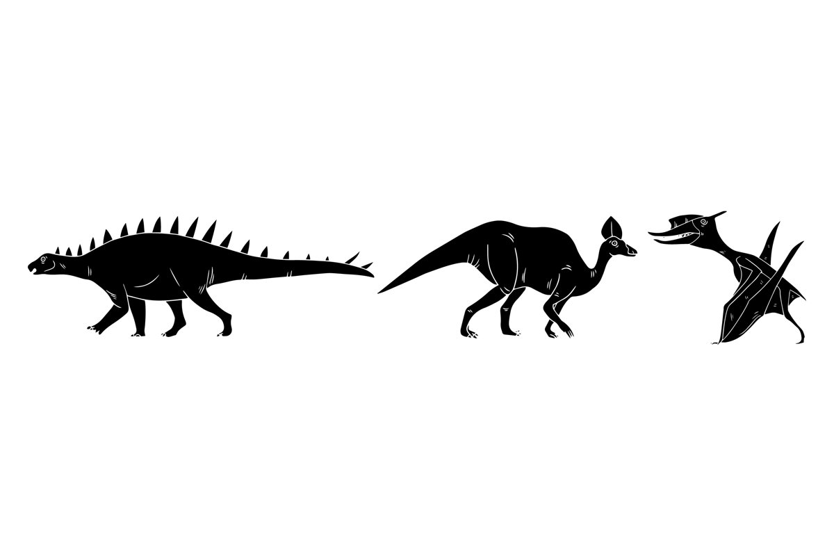 Dinosaurs Silhouettes example image 1