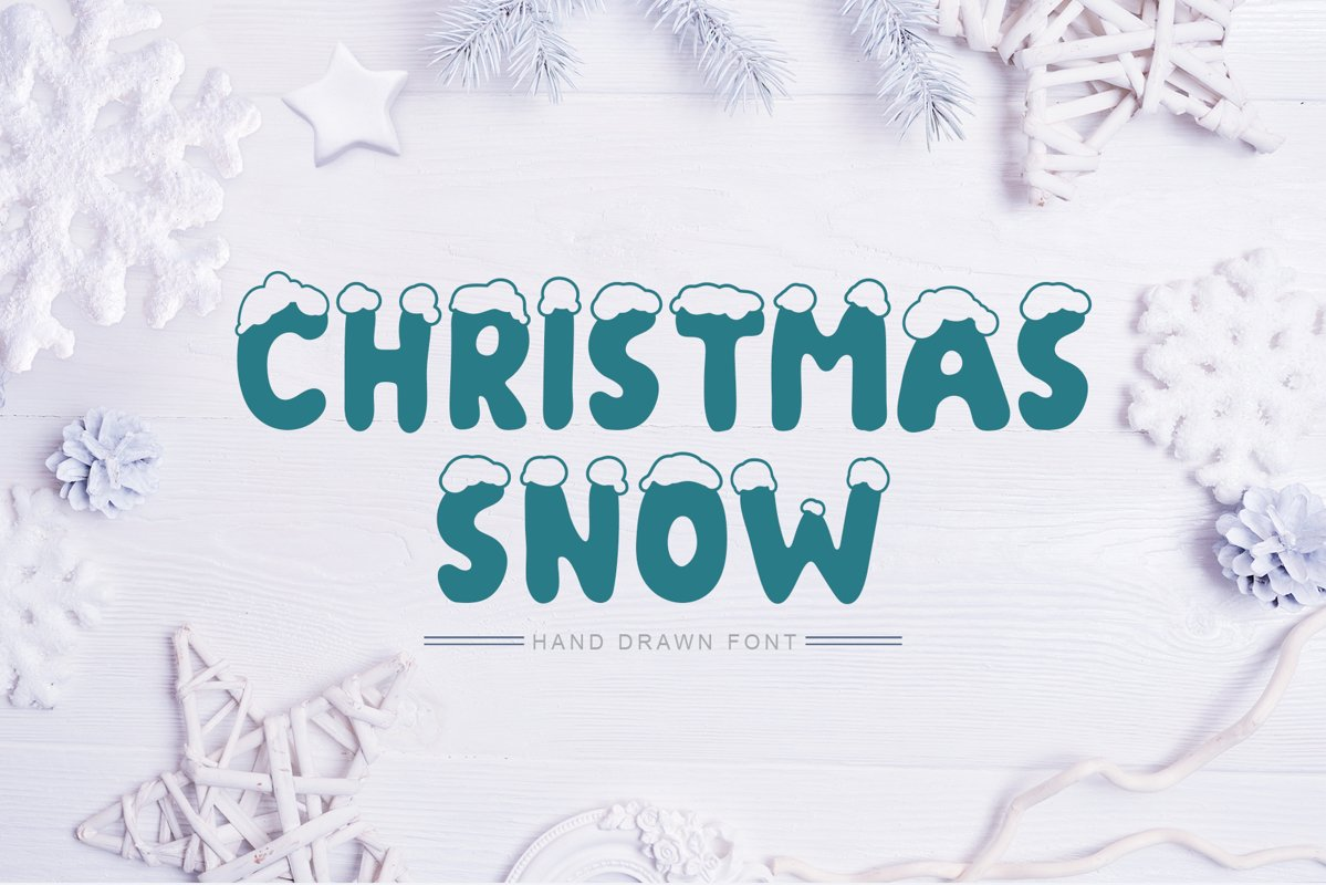 Christmas Snow Hand Drawn Font example image 1