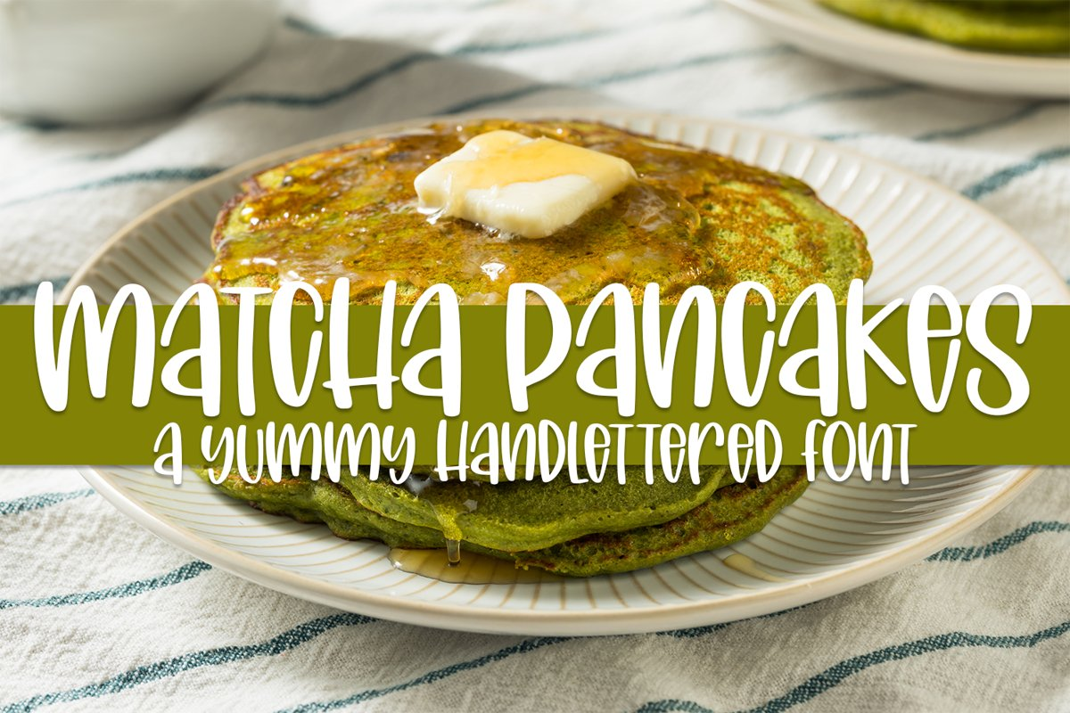 Matcha Pancakes - A Yummy Hand-lettered Font example image 1