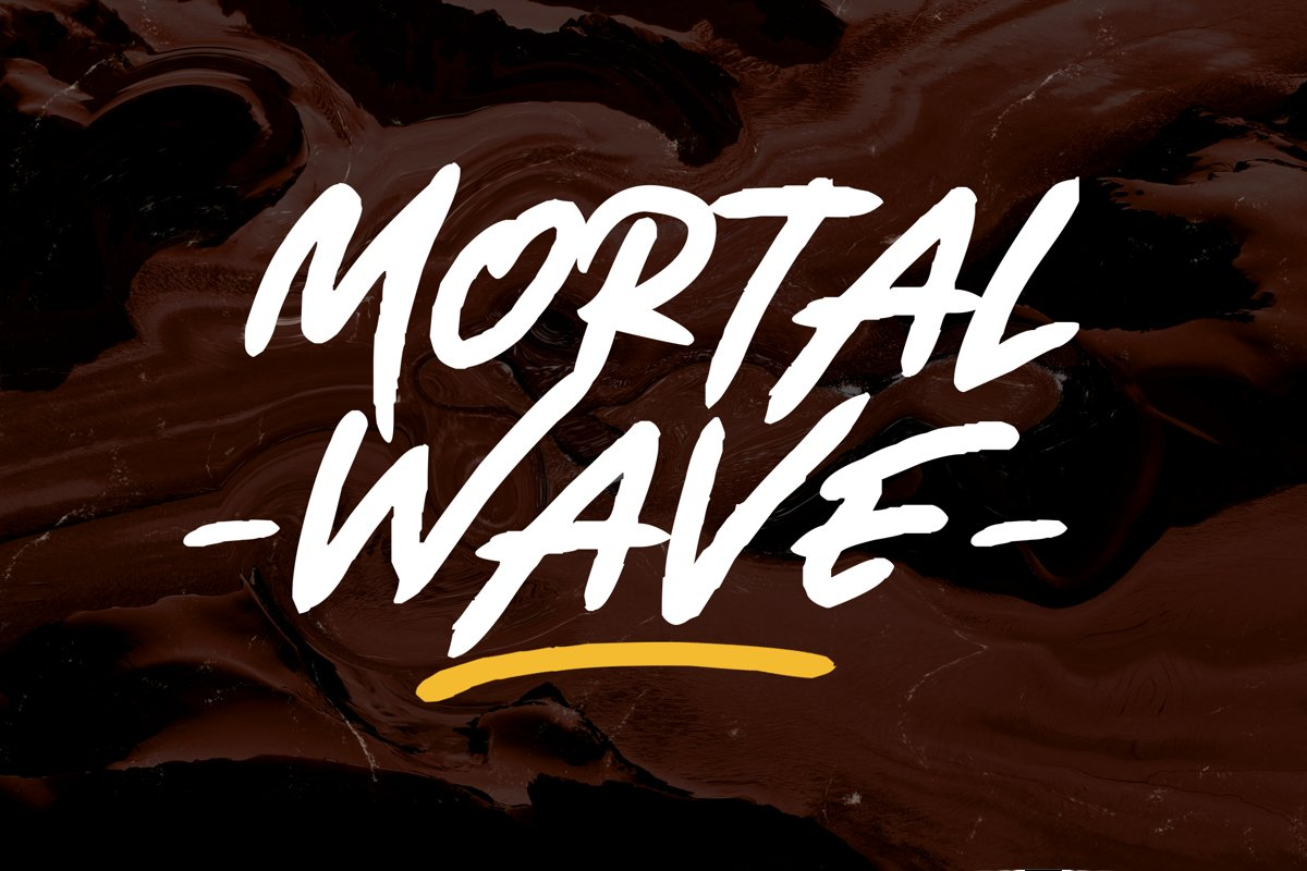 Mortal Wave - Dry Brush Font example image 1