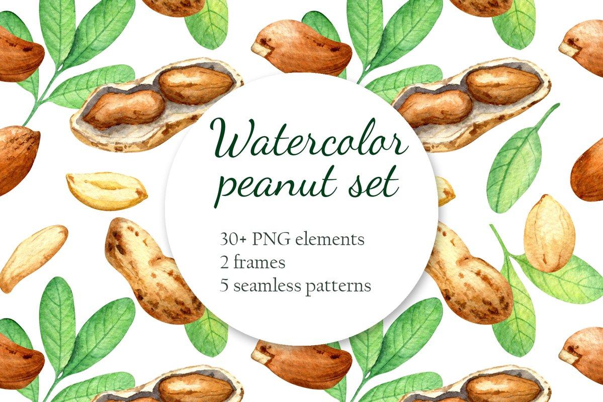 """Peanut"" Watercolor set example image 1"