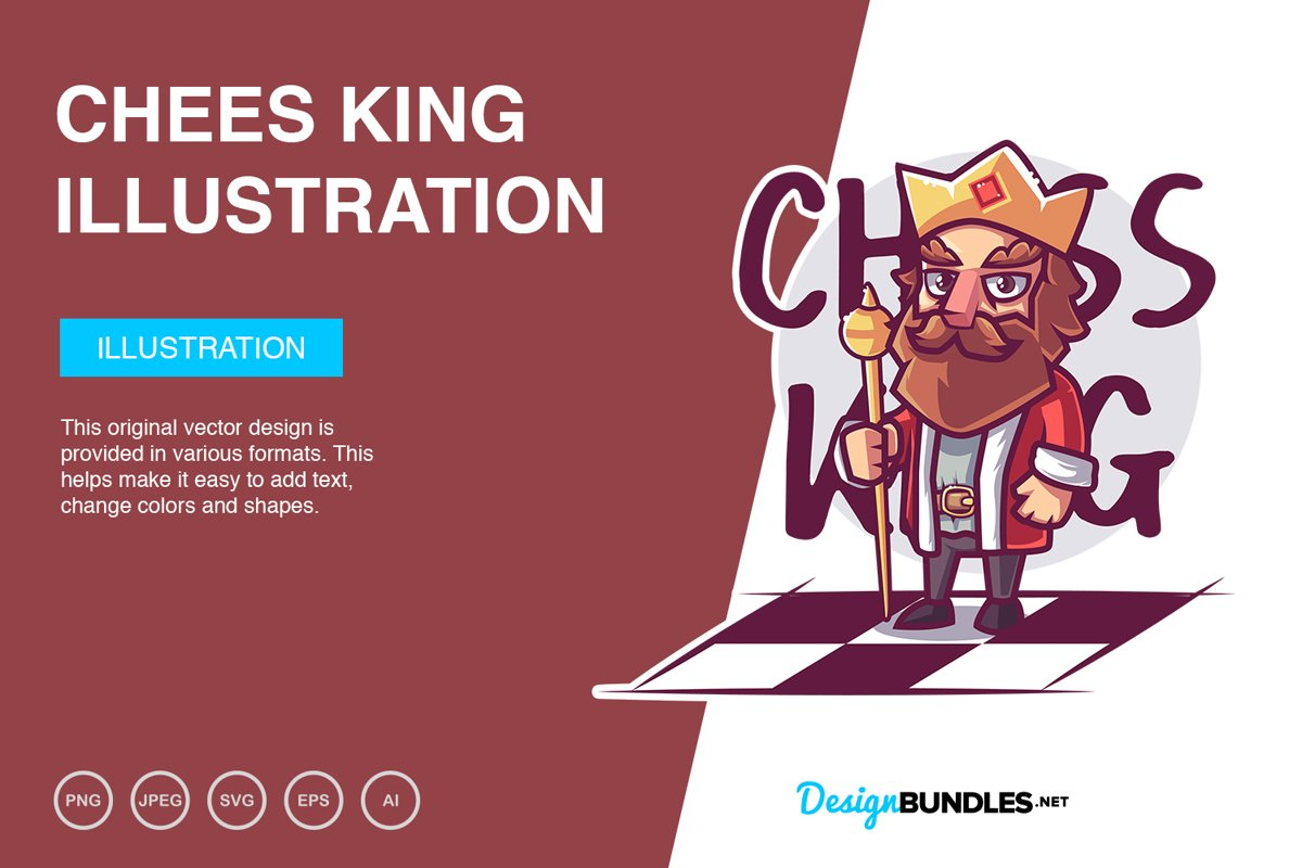 Chess King Vector Illustration example image 1