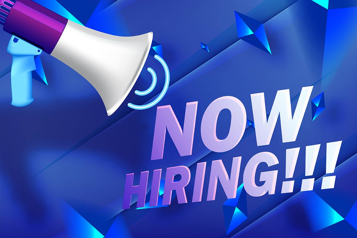 Now Hiring. Advertisement Poster or Banner Design. Realistic example image 1