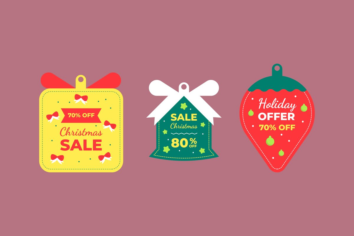 Christmas Sale Tag example image 1