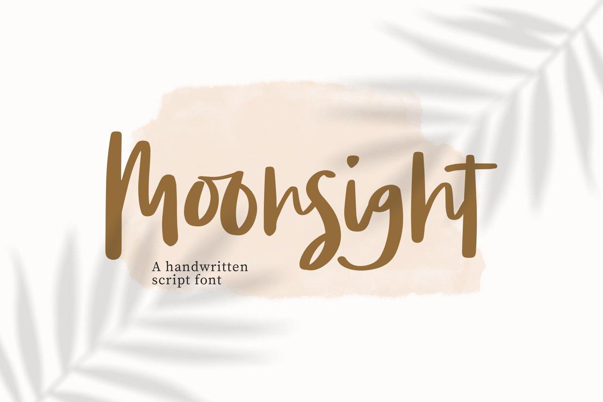Moonsight - Script Fonts example image 1