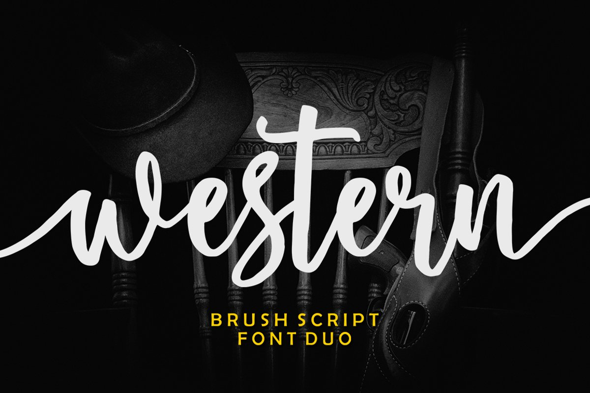 Western Script Font Duo example image 1