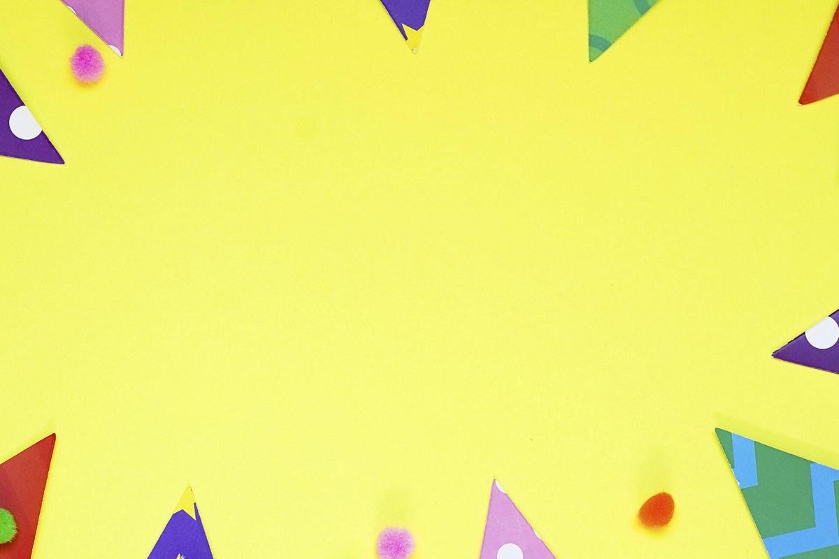 Defocused colorful party frame with birthday objets example image 1