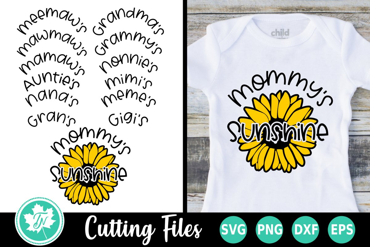 Sunshine Sunflower - A Summer SVG Cut File example image 1