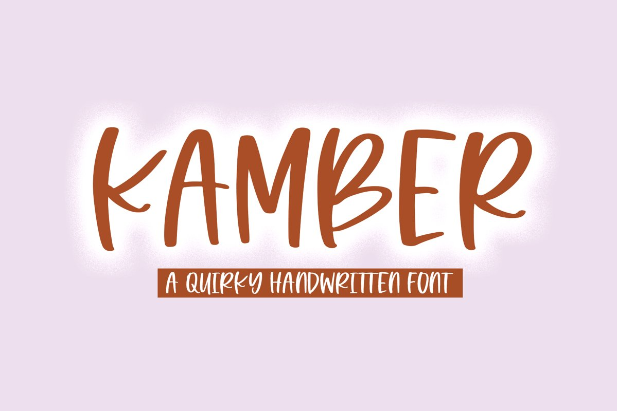 Kamber - A Quirky Handwritten Font example image 1