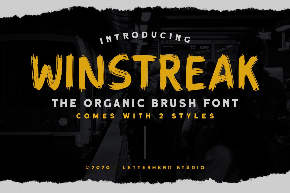 Winstreak - Brush Font example image 1