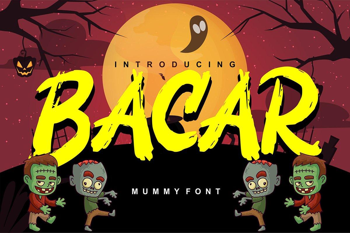 Bacar | Hallowen Theme Font example image 1