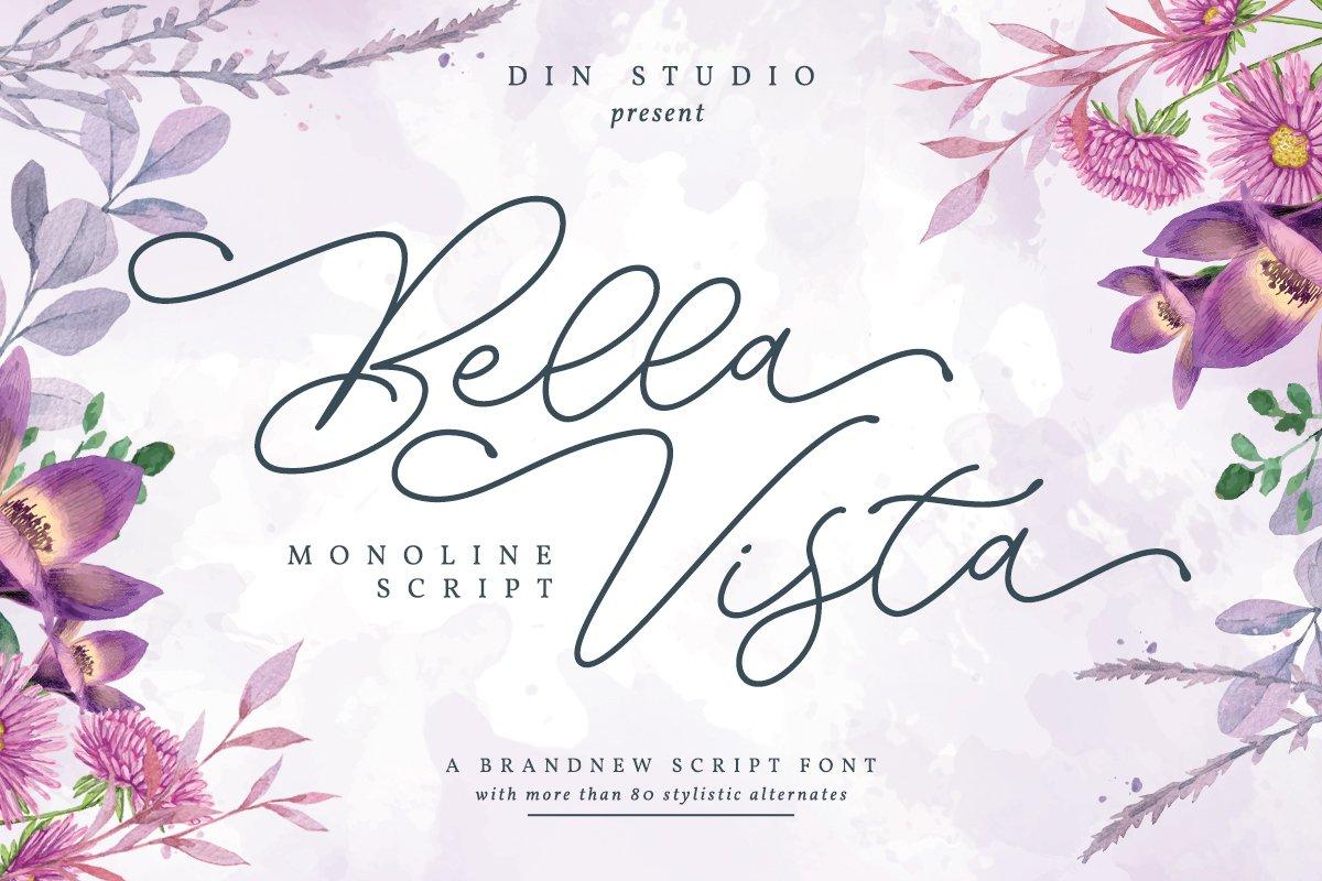 Bella Vista - Monoline Script example image 1