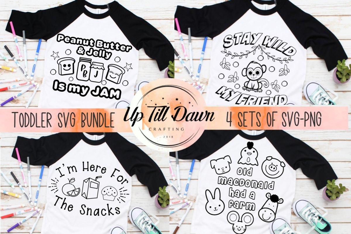 Toddler Coloring Shirt SVG Bundle example image 1