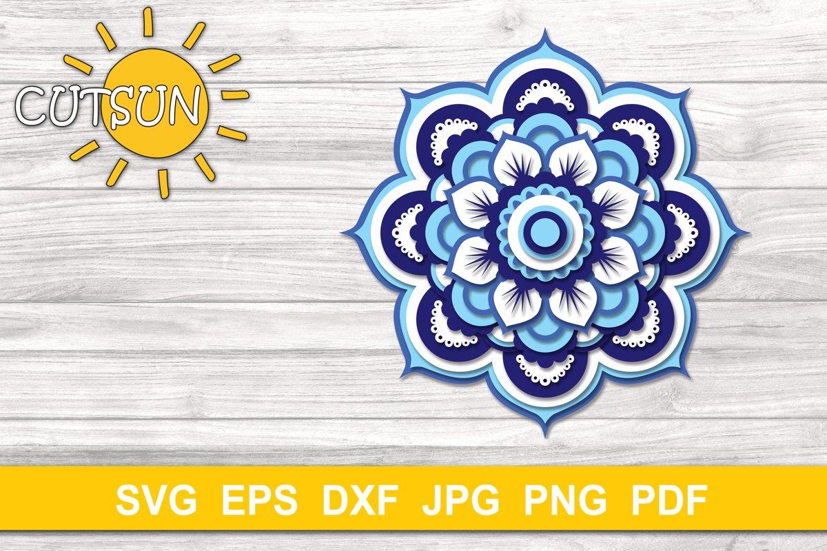 Mandala SVG | 3D Layered Mandala SVG cut file 20 layers example image 1