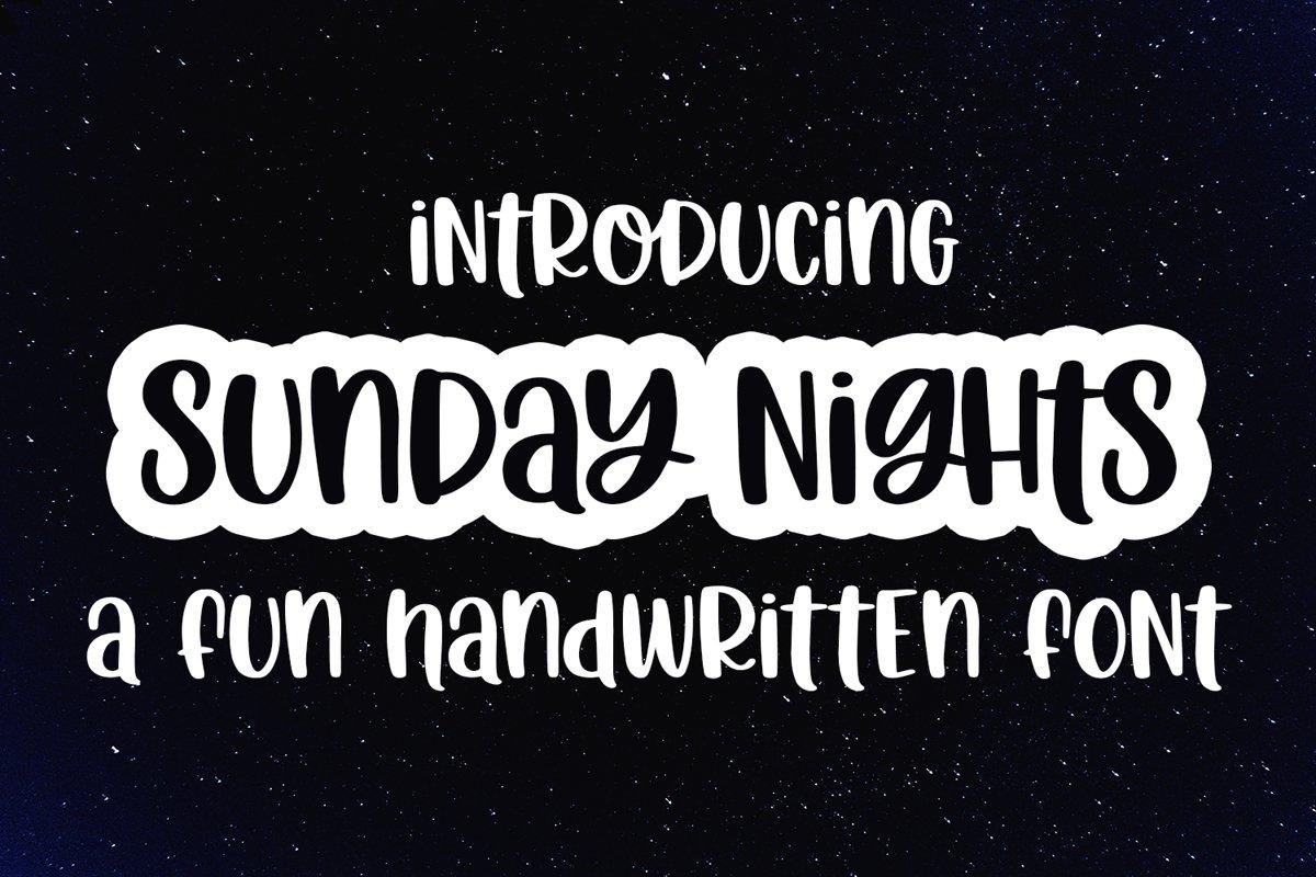 Sunday Nights - A Fun Hand-Written Font example image 1