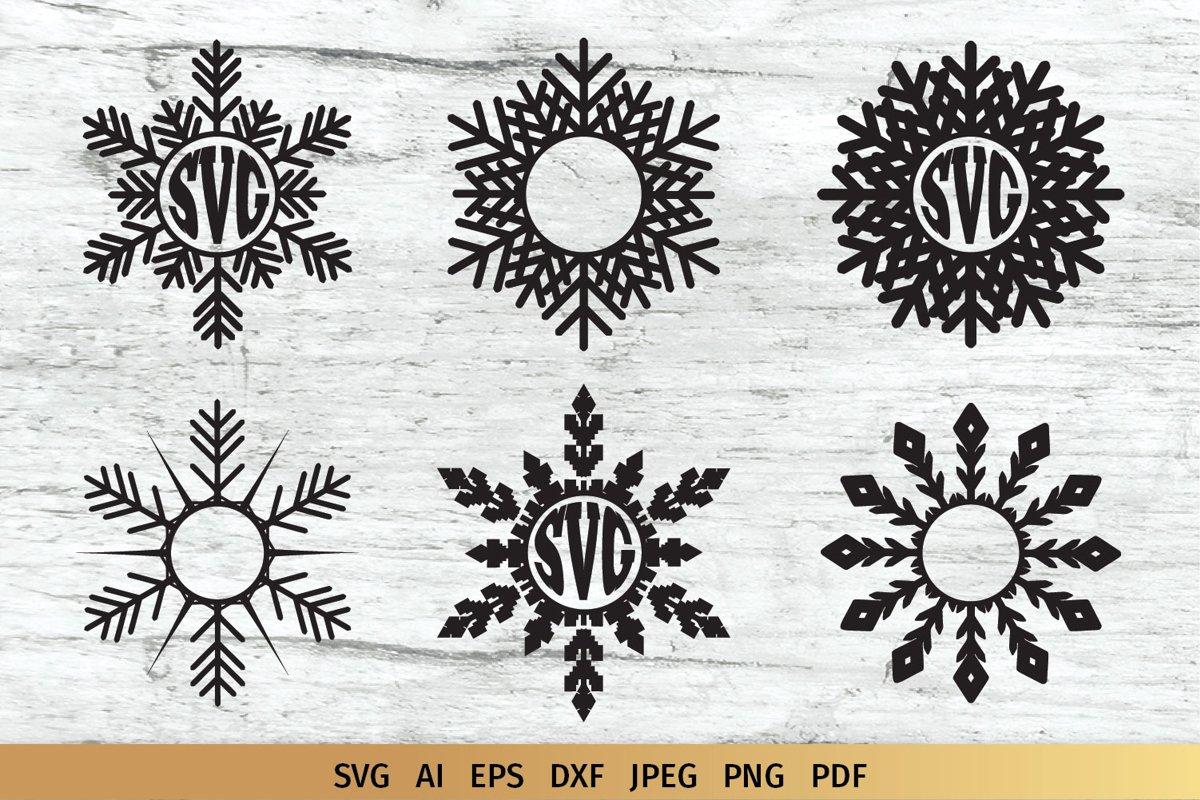 Snowflake Monogram example image 1