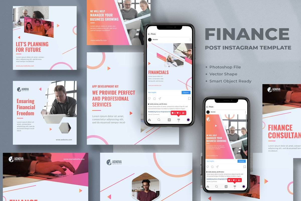 Finance Instagram Post Template example image 1