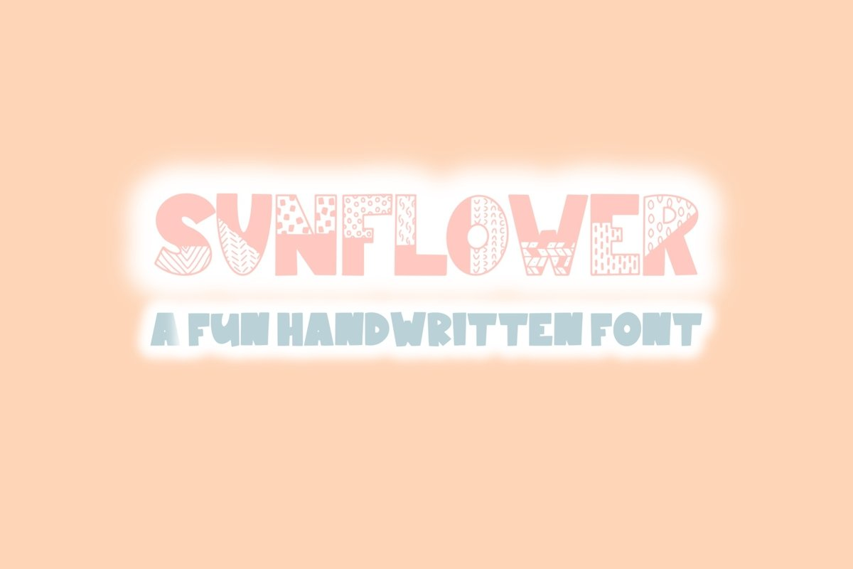 Sunflower | Bold Quirky Hand Written Font example image 1