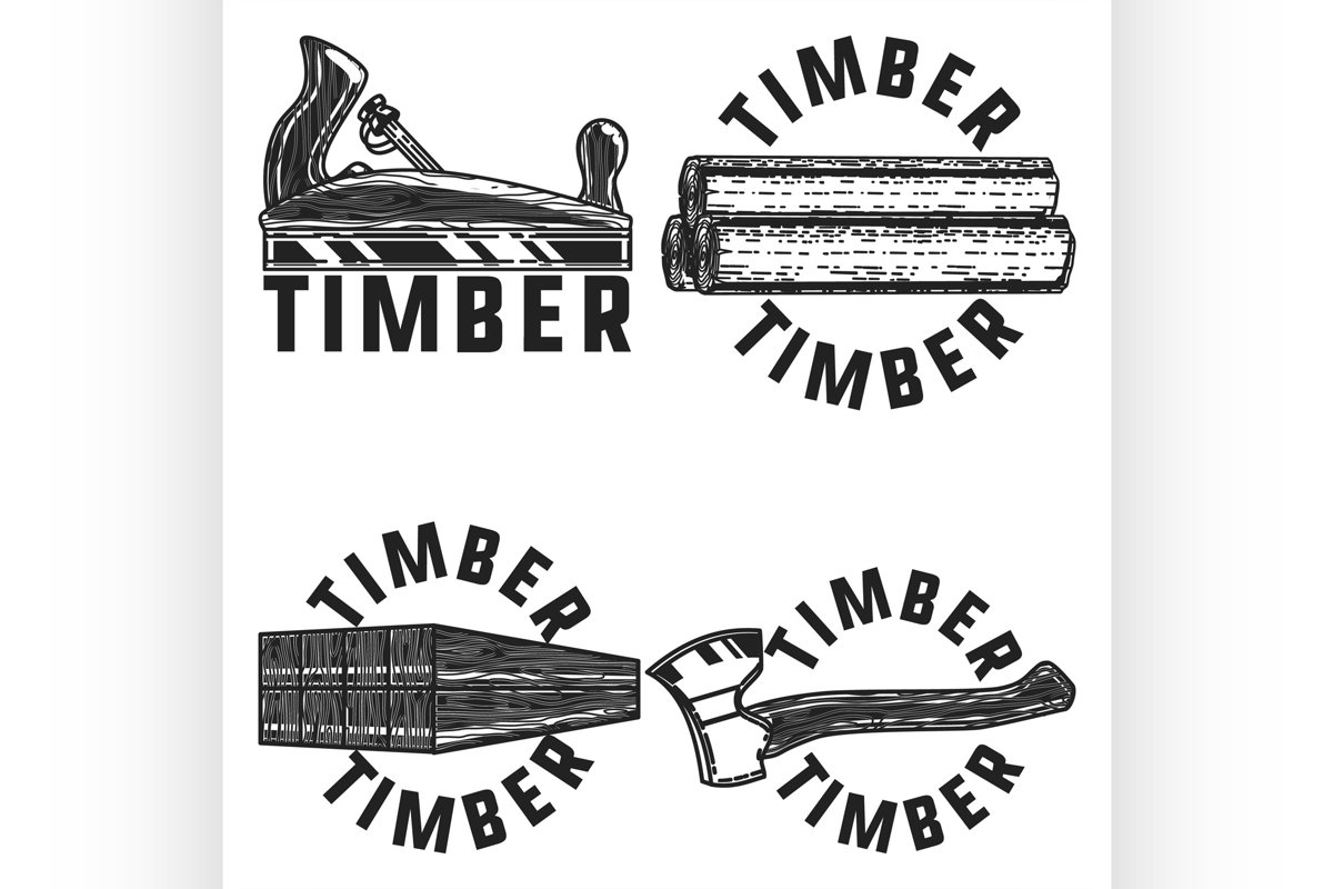 Vintage timber emblems example image 1