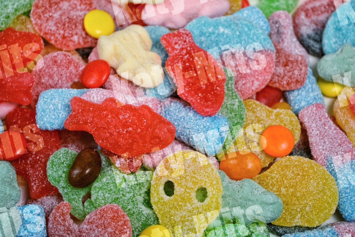 Assorted sweets. Unhealthy food. Fruit flavors example image 1